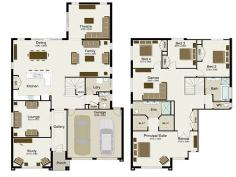The Regent 370 - floorplan