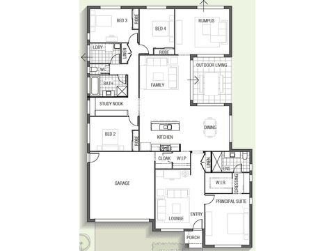 Casuarina 1730 - floorplan