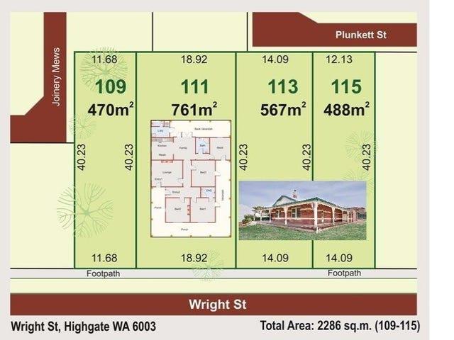 109-115 Wright Street, Highgate, WA 6003