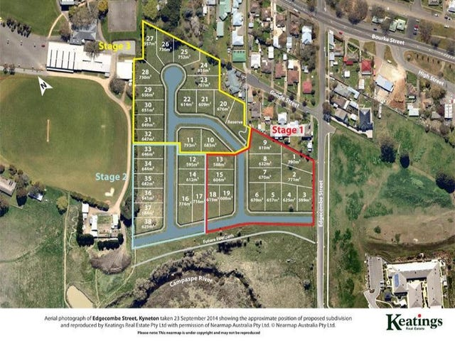 STAGE ONE-  River Heights Estate, Edgecombe Street, Kyneton, Vic 3444