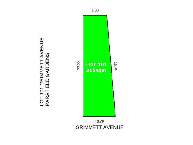 Lot 101 3, Grimmett Avenue, Parafield Gardens, SA 5107