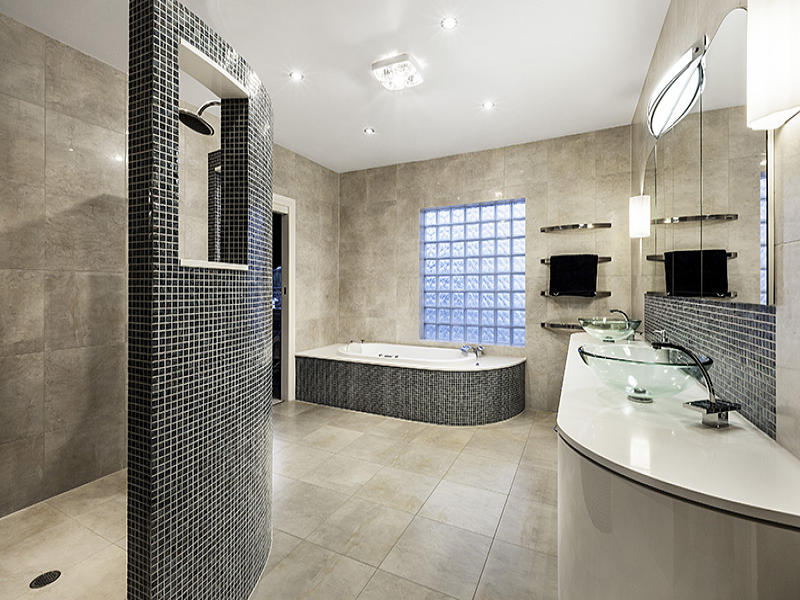Tiles in a bathroom design from an australian home for House bathroom ideas