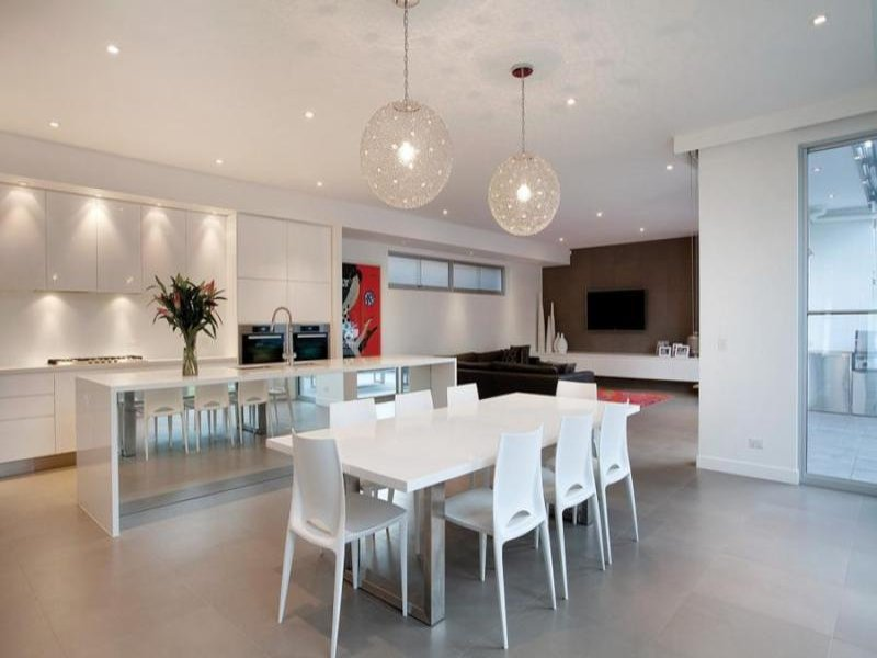 White dining room idea from a real australian home for Best hotel dining rooms