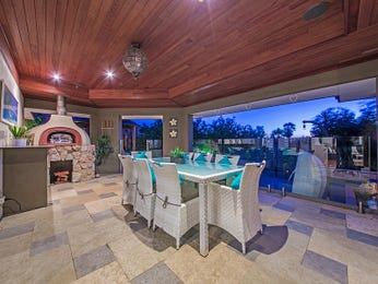 Enclosed outdoor living design with bbq area & outdoor furniture setting using brick - Outdoor Living Photo 8823041