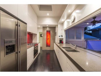 Side-by-side fridge in a kitchen design from an Australian home - Kitchen Photo 7564213