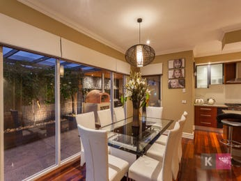 Classic dining room idea with glass & floor-to-ceiling windows - Dining Room Photo 15458829