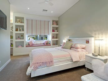 Bedroom Design Ideas collect this idea bedroom ideas decor Childrens Room Bedroom Design Idea With Carpet Built In Shelving Using Beige Colours