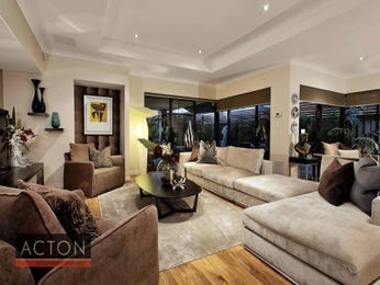 Open plan living room using beige colours with floorboards & floor-to-ceiling windows - Living Area photo 909355