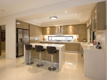 Modern open plan kitchen design using polished concrete - Kitchen Photo 127143
