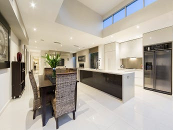 Modern open plan kitchen design using tiles - Kitchen Photo 17126357