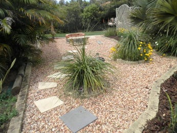 Landscaped garden design using pebbles with vegetable patch & rockery - Gardens photo 182720