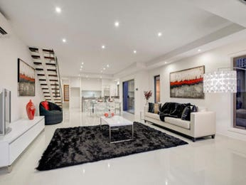 Black living room idea from a real Australian home - Living Area photo 1789089