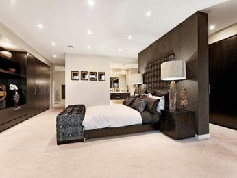 Romantic bedroom design idea with timber & built-in wardrobe using brown colours - Bedroom photo 190395