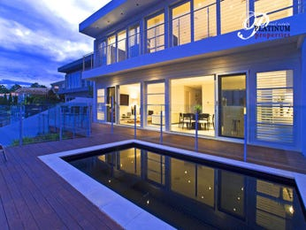 Multi-level outdoor living design with pool & decorative lighting using timber - Outdoor Living Photo 479786