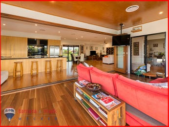 Red living room idea from a real Australian home - Living Area photo 8513497