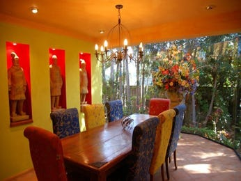 Red dining room idea from a real Australian home - Dining Room photo 16287389