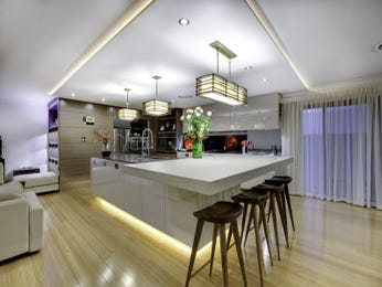Chandelier in a kitchen design from an Australian home - Kitchen Photo 7664245
