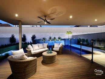 Indoor-outdoor outdoor living design with deck & decorative lighting using timber - Outdoor Living Photo 249852