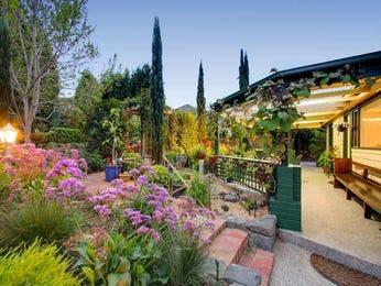 Tropical garden design using brick with pergola & ground lighting - Gardens photo 896297