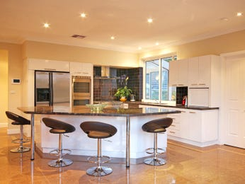 Side-by-side fridge in a kitchen design from an Australian home - Kitchen Photo 6900337