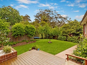 Landscaped garden design using tiles with deck & hedging - Gardens photo 1123893