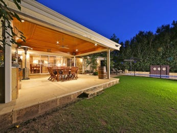 Multi-level outdoor living design with outdoor dining & decorative lighting using brick - Outdoor Living Photo 1297550