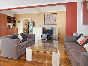 Red living room idea from a real Australian home - Living Area photo 7505477