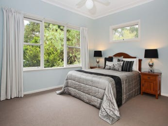 Classic bedroom design idea with glass & bi-fold windows using blue colours - Bedroom photo 259251