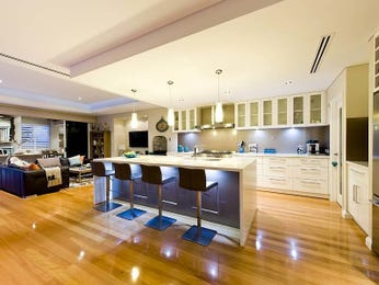 Down lighting in a kitchen design from an Australian home - Kitchen Photo 15273281