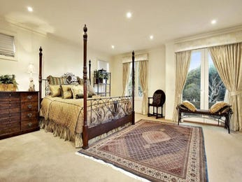 Classic bedroom design idea with carpet & balcony using cream colours - Bedroom photo 309027