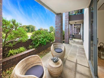 Landscaped garden design using brick with balcony & outdoor furniture setting - Gardens photo 1533949