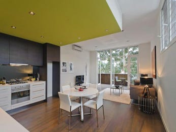 Modern kitchen-living kitchen design using floorboards - Kitchen Photo 539406