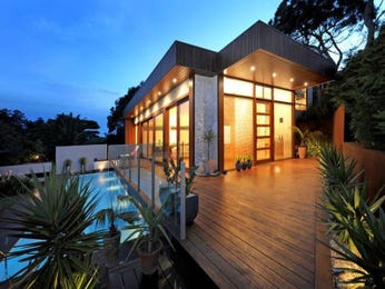 Multi-level outdoor living design with deck & decorative lighting using timber - Outdoor Living Photo 563022