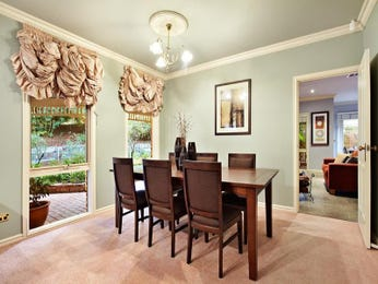 Formal dining room idea with carpet & floor-to-ceiling windows - Dining Room Photo 1118800