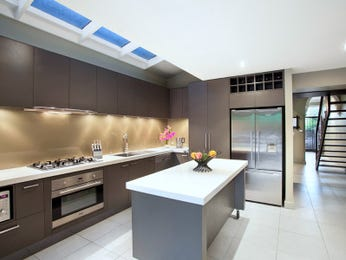 Modern galley kitchen design using stainless steel - Kitchen Photo 1012617