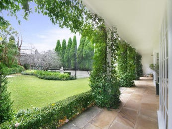 Landscaped garden design using grass with verandah & hedging - Gardens photo 315857
