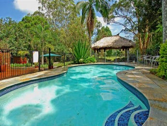 In-ground pool design using tiles with gazebo & outdoor furniture setting - Pool photo 1448150