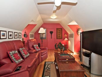 Pink living room idea from a real Australian home - Living Area photo 1596078
