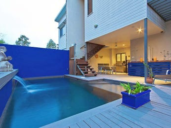 In-ground pool design using timber with bbq area & fountain - Pool photo 874132