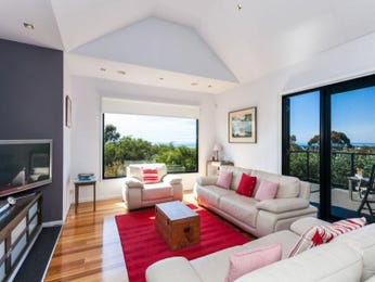 Red living room idea from a real Australian home - Living Area photo 7468841