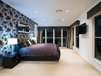 Romantic bedroom design idea with hardwood & floor-to-ceiling windows using black colours - Bedroom photo 318966