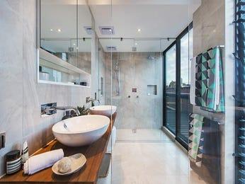 Modern bathroom design with twin basins using ceramic - Bathroom Photo 7642521
