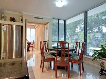 Classic dining room idea with tiles & floor-to-ceiling windows - Dining Room Photo 970538