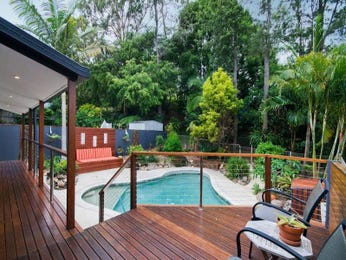 Freeform pool design using timber with decking & outdoor furniture setting - Pool photo 1256039