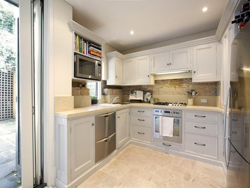 Modern l shaped kitchen design using tiles kitchen photo 423051 for L shaped modern kitchen designs
