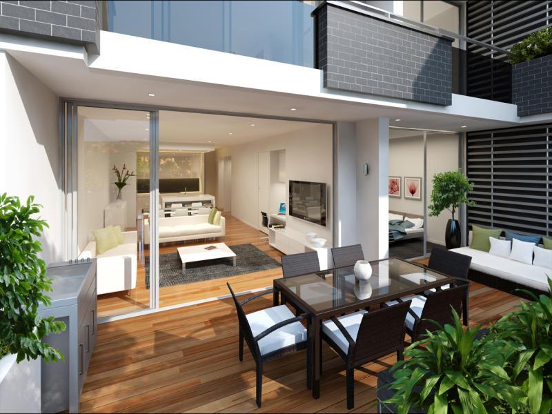 Indoor-outdoor outdoor living design with deck u0026 decorative lighting using glass - Outdoor ...