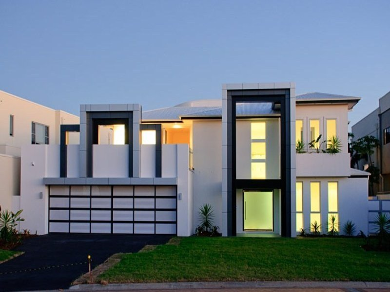 created by WA Design using an economical exterior shell for the house ...