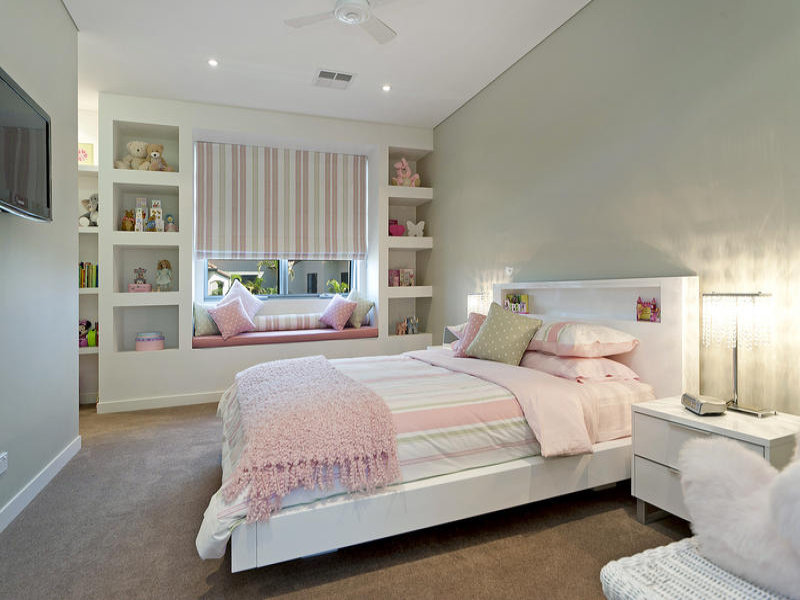 Children S Room Bedroom Design Idea With Carpet Amp Built In