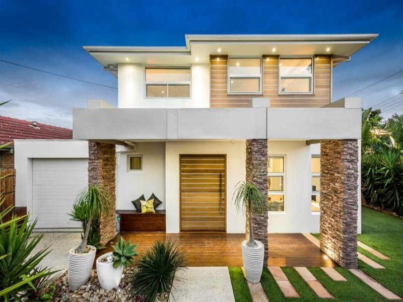 Photo of a stone house exterior from real australian home for Exterior house facade ideas