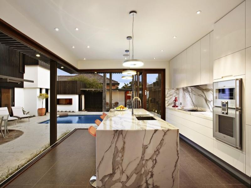 Modern Island Kitchen Designs island kitchen design using marble - kitchen photo 131080